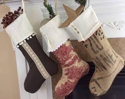 farmhouse christmas stocking etsy