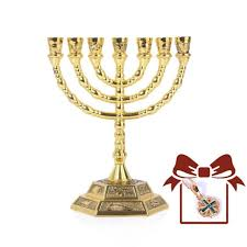menorah 7 candles 12 tribes of israel menorah 7 branch hexagonal base candle