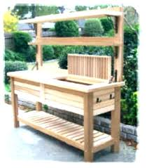 potting table with sink outdoor potting bench with sink plans free garden how to build