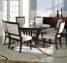 sleek dining room set with bench tables chairs dining room set