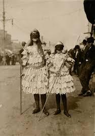 vintage mardi gras children wearing mardi gras costumes in new orleans louisiana ca
