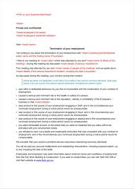 Termination Of Employment Notice Template by 9 Company Termination Letters Free Samples Examples Formats