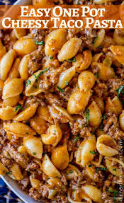 recipes with pasta cheesy taco pasta dinner then dessert