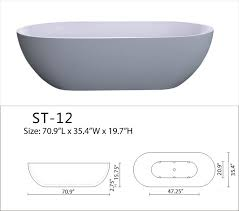 Solid Surface Bathtubs Accio Free Standing Luxury Solid Surface Modern Bathtub The Most