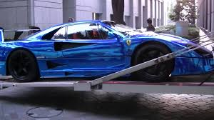 blue f40 supercar f40 lm blue chrome wrapping special office
