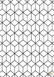 geometric tessellation with rhombus pattern coloring pages best