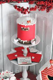 red holiday guest dessert feature cake xmas and christmas baking
