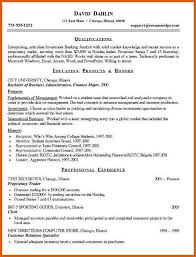 Entry Level Investment Banking Resume Investment Banking Resume Apa Examples