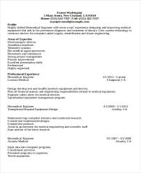 Biomedical Technician Resume Sample by 47 Engineering Resume Samples Free U0026 Premium Templates