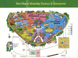 Map Of Epcot Magic Kingdom 1976 Disney Maps Pinterest