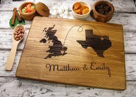 engraved cutting board wedding gift personalized map engraved board personalized map cutting board