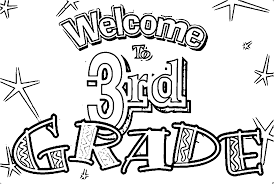 welcome to 3rd grade coloring page wecoloringpage