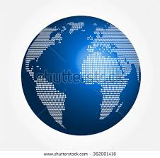 world map globe image vector illustration halftone world map globe stock vector
