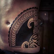 aztec sun god blackwork on belly side best ideas