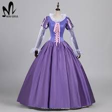 Rapunzel Halloween Costumes Aliexpress Buy Tangled Rapunzel Dress Halloween Costumes