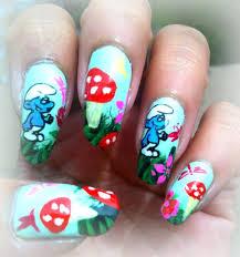 funny nail art designs fabulous funny smurf polish themed nail