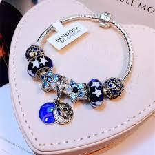 murano glass bangle bracelet images Pandora beads bracelet star charms original blue murano glass jpg