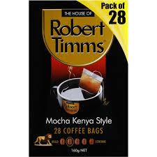 espresso coffee bag robert timms coffee bags mocha kenya style 28pk 168g woolworths