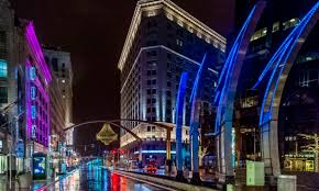 Cleveland Outdoor Chandelier Playhouse Square Placemaking And Digital Experience Segd