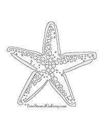 drawn starfish stencil pencil and in color drawn starfish stencil