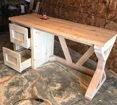 Homemade Wood Computer Desk by Best 25 Farmhouse Desk Ideas On Pinterest Farmhouse Office