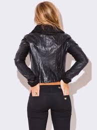 black leather biker jacket vegan leather biker jacket modishonline com