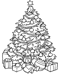 coloring pages christmas tree free printable color