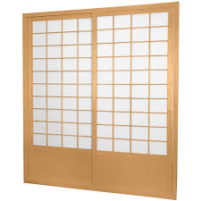oriental furniture 7 ft natural shoji 2 panel sliding door shoji