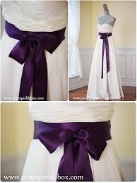 plum wedding dresses plum bridal sash