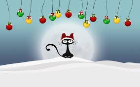 cat christmas black cat christmas wallpaper wallpapersafari