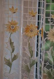 Sunflower Yellow Curtains Pin By Curtains At Home On Cafe Net Curtains Net
