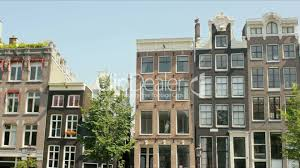 traditional old buildings in amsterdam royalty free video and