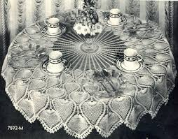 Crochet Table Cloth Free Crochet Tablecloth Pattern Images Craft Pattern Ideas