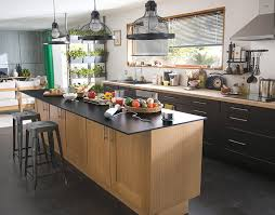 table cuisine chene castorama cuisine kadral chêne et noir une cuisine pour se