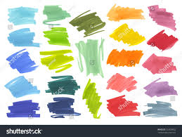 color highlight stripes banners drawn japan stock vector 723033052