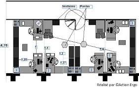 plan bureau de travail exemple d aménagement de bureaux