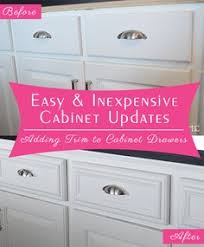 How To Update Kitchen Cabinets by How To Add Cabinet Molding Moldings Kitchens And House