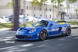 porsche gt gemballa gemballa mirage gt loud revs and fast acceleration at the