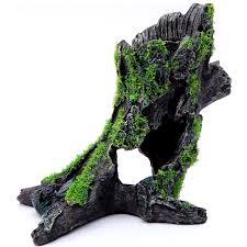 moss covered tree stump ornament allpondsolutions