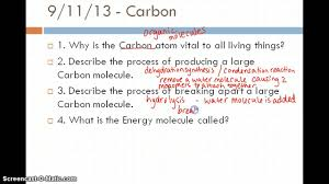 biology one review for chapter 2 3 youtube