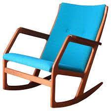 modern wood rocking chair danish modern rocker by mid century
