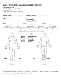 pain body vas pain diagram pain prevent