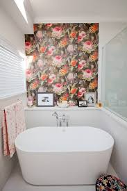floral bathroom designs decorating ideas design trends floral accent bathroom wall ideas