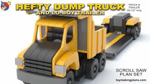 Making Wooden Toy Trucks by Wood Toy Plans Hefty Dump Truck And Trailer Youtube