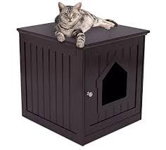 ecoflex jumbo litter loo hidden kitty litter box end table iris open top cat litter box kit with shield and scoop blue