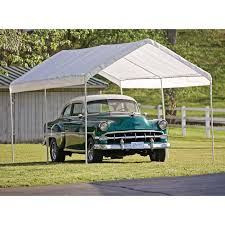 Open Carport by Shelterlogic 10 X 20 Ft Deluxe All Purpose Canopy Carport Hayneedle