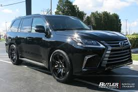 lexus car black lexus lx with 22in black rhino mozambique wheels exclusively from