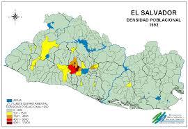 Population Density Map El Salvador Population Density Map 1992