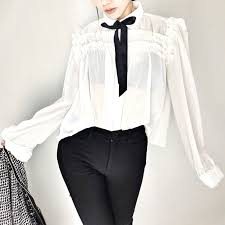 white bow blouse darry flounced bow blouse white in clothing jessicabuurman