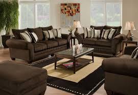 Sofa And Loveseat Sets Brown Fabric Casual Sofa U0026 Loveseat Set W Plush Flared Arms